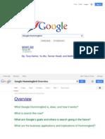 Google Hummingbird Group Project