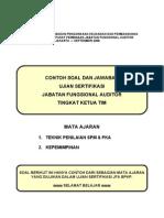 Contoh Soal Dan Jawaban Ujian Sertifikasi Jabatan Fungsional Auditor Tingkat Ketua Tim