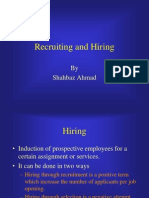 Recruiting and Hiring