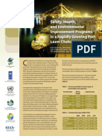 Safety Health and Environmental Improvement Programs Rapidly Growing Port Laem Chabang