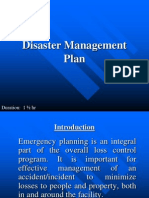 19. Disaster Management Plan