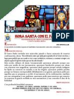 HORA SANTA CON EL PAPA. EL SACRAMENTO DE LA CONFIRMACIÓN