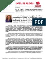 IU se rebela contra el incumplimiento sistemático del reglamento de Participación Ciudadana en los Distritos