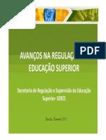 Avanços na Regulação da Educação Superior
