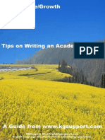 Tips on Writing an Academic Paper