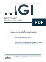 Master's Thesis - Standardization of project management processes