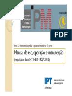Manual de uso operação e manutenção - Ercio Tomaz