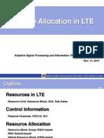 Resource Allocation in LTE