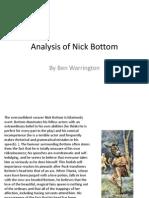 Analysis of Nick Bottom