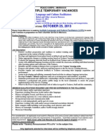 Peace Corps Language and Culture Facilitators Anouncement 2013