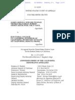 2014-01-29 ECF 27-1 9th Cir. - Grinols v Electoral College Et Al - Answering Brief of CA Defendants-Appellees