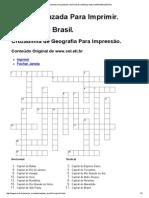 PALAVRAS CRUZADAS CAPITAIS DO BRASIL (8º ANO)