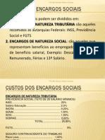 Cálculo de Encargos Sociais Exemplo