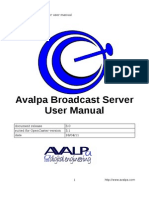 AvalpaBroadcastServerUserManual-v3.0