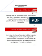 Earnings Strangles With Duration