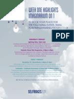 Festival of Imagination Highlights Week 1