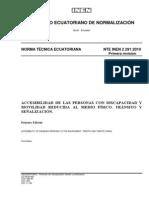 NORMA INEN 2291 (Acceso Discapacitados)