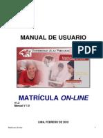 Manual de Usuario Mat Online
