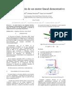 implementación de un motor lineal demostrativo