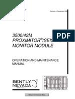 3500 42m Proximitor Seismic Monitor Module Op Maintenance Man