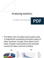 Analysing Statistics