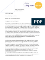 Brief aan minister Schippers - Late zwangerschaps afbreking