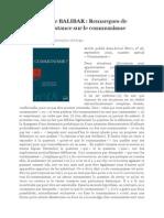 Etienne Balibar - Remarques de Circonstance Sur Le Communisme
