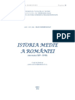 Caiet Seminar Istoria Medie a Romaniei.sec.XIV-XVII