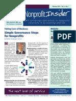 UHY NonProfit Insider February 2014