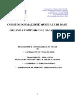 Formazione Musicale Base Organo