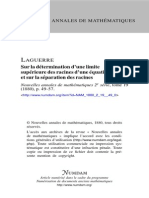 La Guerre Upper Bound Pos Root