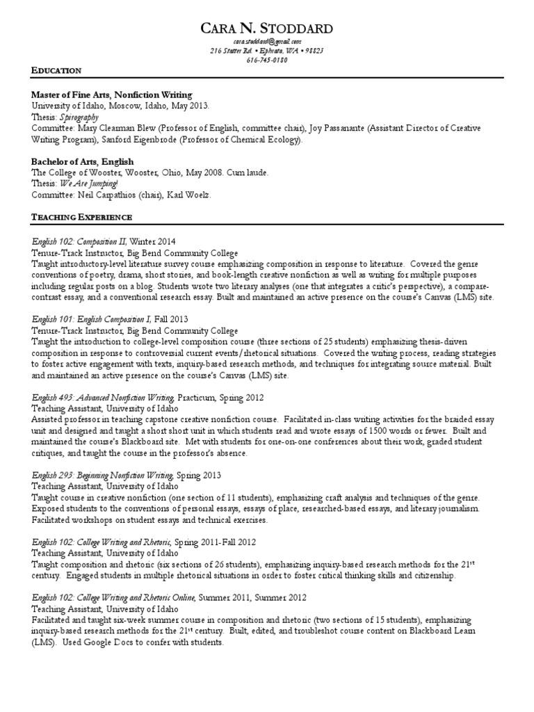 drama essay english 102