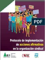 Protocolos para implementar acciones afirmativas de género en los sindicatos