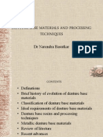 5 Denture Base Materials and Processsing Techs