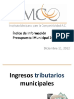 IMCO Indice de Informacion Presupuestal Municipal 2012
