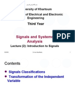 Lecture 2 Signals Classifications