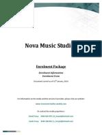 nova music studios - enrolment package 2014