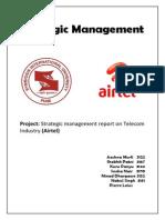 Strategic management airtel