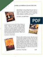 Nuevas Peliculas en La Biblioteca Gerardo Selles SOla Sept 09