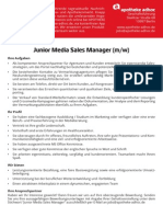 Stellenanzeige Junior Media Sales