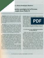 La Constitucion Ontologica de La Persona Segun Juan Pablo II (1)