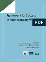 Framework for Success Postsecondary Writing