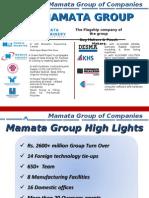 Mamata Group of Companies Presentation