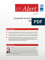 Fraser Alert: Corporate Income Taxes Who Pays? by Philip Cross