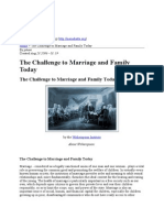 The Challenge to Marriage and Family Today