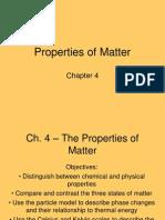 ch  4 - the properties of matter