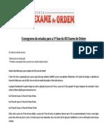 Original Cronograma de Estudos Para o XIII Exame Da OAB1