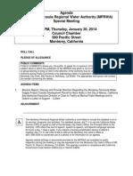 MPRWA Special Meeting Agenda Packet 01-30-14