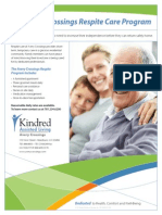 The Kindred Assisted Living – Avery Crossings Respite Care Program flyer