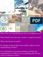 Introduction to Cost Terms